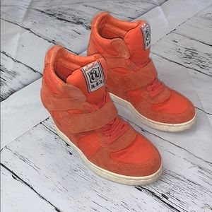 Women's Limited A.S.H Orange High Wedge Sneakers
